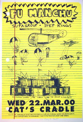 Casey Burns Fu Manchu Poster