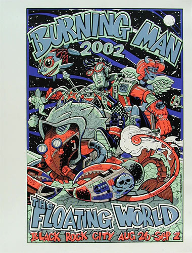 Jamie Burton Burning Man 2002 Poster