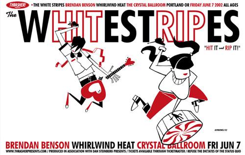 Guy Burwell White Stripes Poster