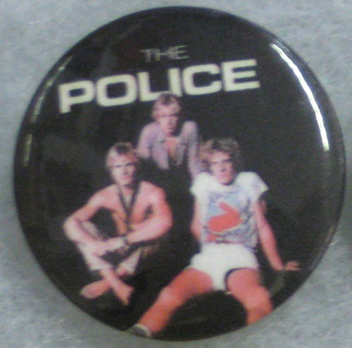 The Police Button Pin