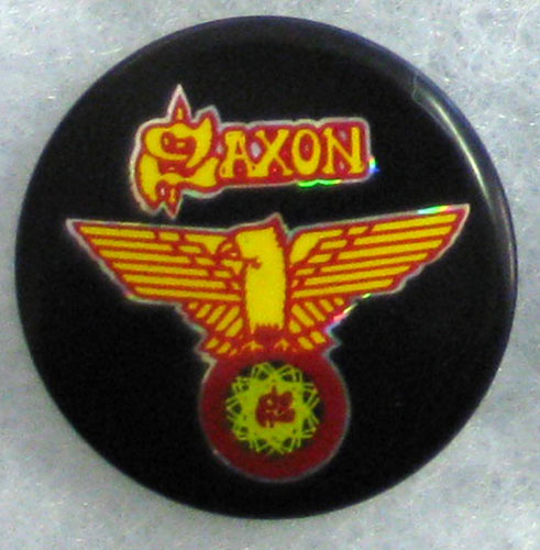 Saxon - Wheels of Steel Button Pin