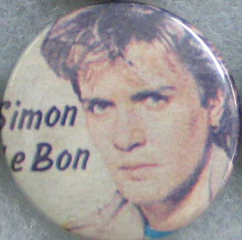 Simon Le Bon of Duran Duran Button Pin