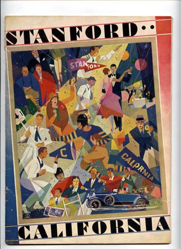 1928 Cal Stanford Big Game College Football Program