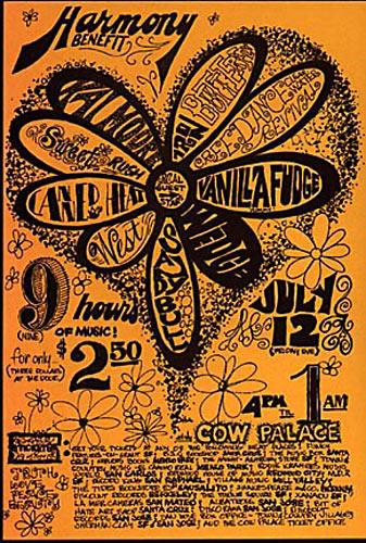 Creedence Clearwater Revival Vanilla Fudge  Handbill