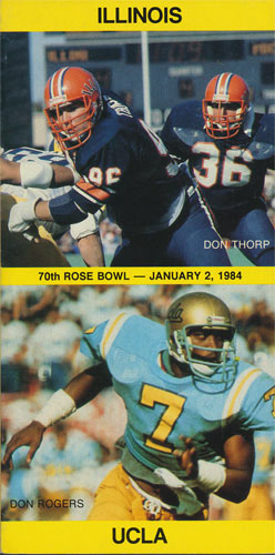 1984 Illinois vs UCLA Rose Bowl Media Guide