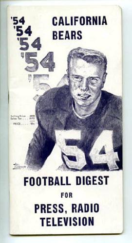 1954 Cal Bears Football Media Guide