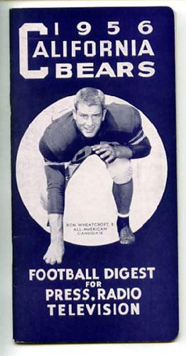1956 Cal Bears Football Media Guide
