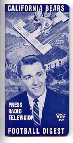 1960 Cal Bears Football Digest Football Media Guide