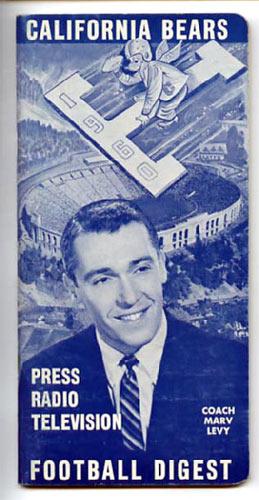 1960 Cal Bears Football Media Guide