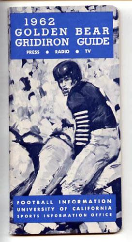 1962 Cal Bears Football Media Guide
