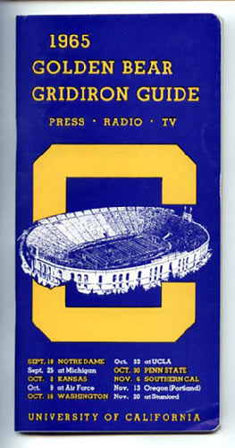 1965 Cal Bears Football Media Guide