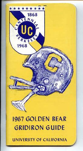 1967 Cal Bears Football Media Guide