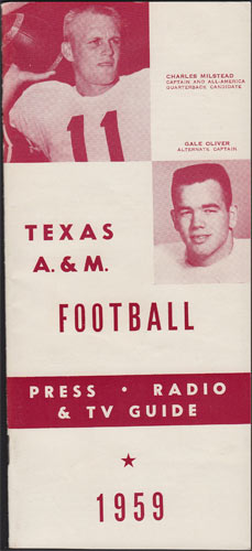 1959 Texas A&M Football College Football Media Guide