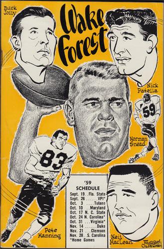 1959 Wake Forest Football College Football Media Guide