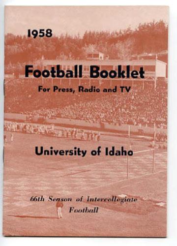 1958 Idaho Football Media Guide