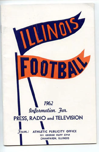 1962 University of Illinois Football Media Guide