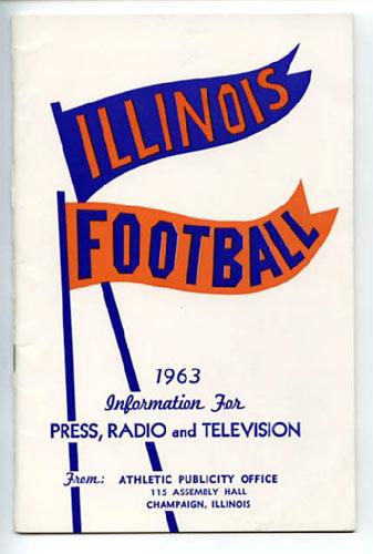 1963 University of Illinois Football Media Guide