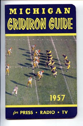 1957 Michigan Football Media Guide