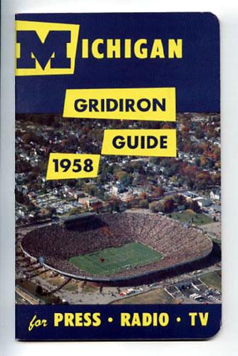 1958 University of Michigan Football Media Guide