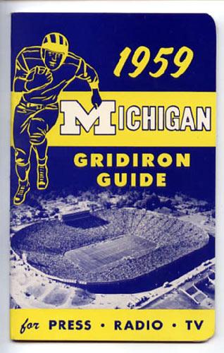 1959 Michigan Football Media Guide