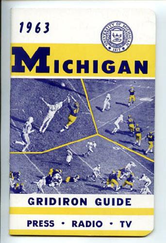 1963 University of Michigan Football Media Guide