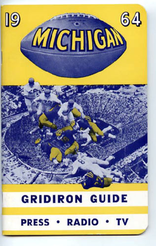 1964 University of Michigan Football Media Guide