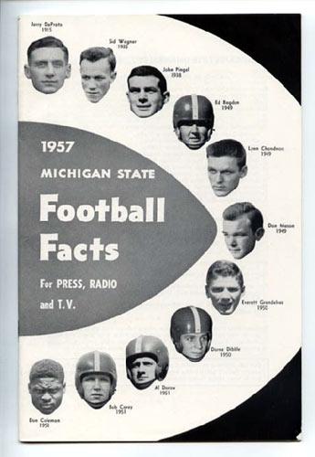 1957 Michigan State Football Media Guide