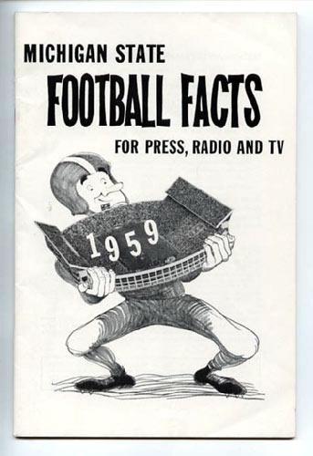 1959 Michigan State University Football Media Guide