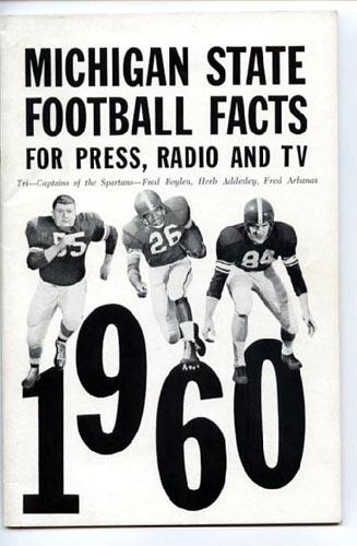 1960 Michigan State Football Media Guide