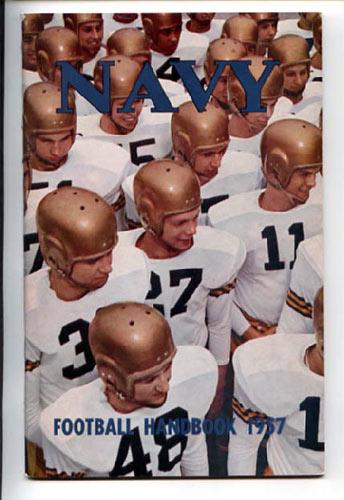 1957 Navy Football Media Guide