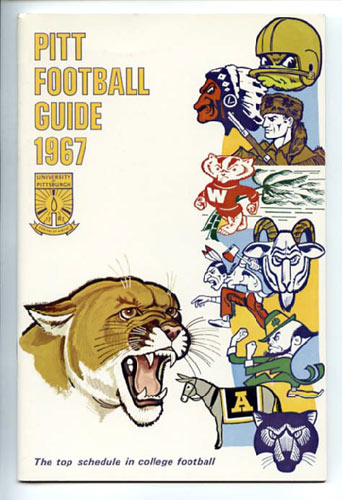 1967 Pitt Panthers Football Media Guide