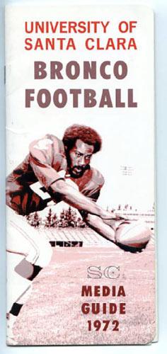 1972 University of Santa Clara Football Media Guide