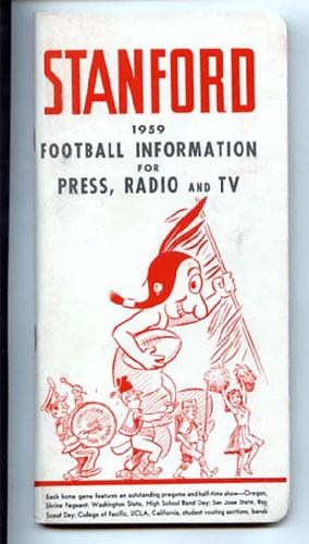 1959 Stanford Football Media Guide