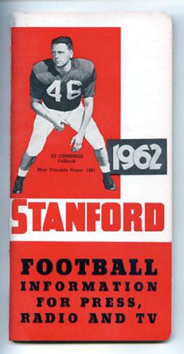 1962 Stanford University Football Media Guide