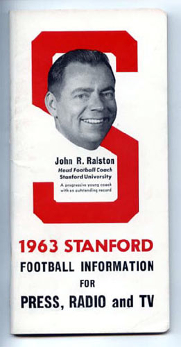1963 Stanford Football Media Guide