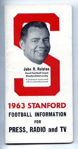 1963 Stanford University Football Media Guide