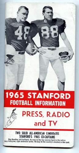 1965 Stanford Football Media Guide