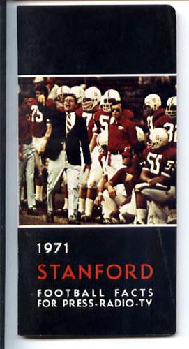 1971 Stanford Football Media Guide