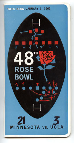 1962 Minnesota vs UCLA Rose Bowl 48 Football Media Guide