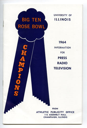 1964 University of Illinois Football Media Guide