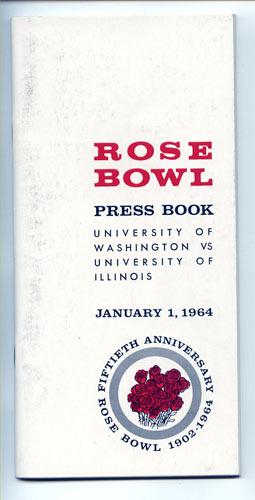 1964 Washington vs Illinois Rose Bowl Football Media Guide
