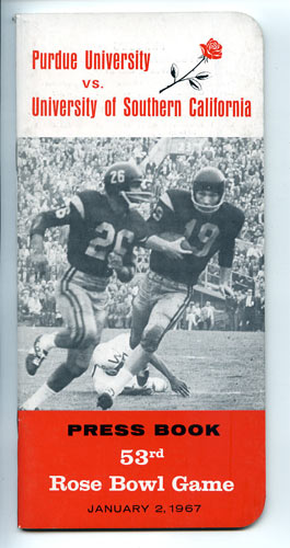 1967 Rose Bowl Purdue vs USC College Football Media Guide