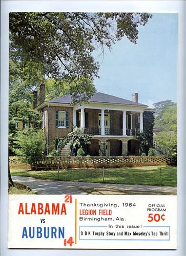 1964 Alabama vs Auburn Iron Bowl  College Football Program