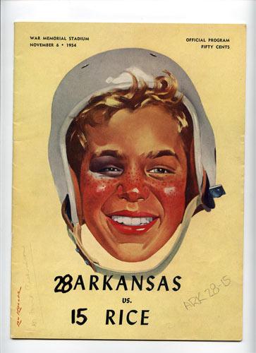 1954 Arkansas vs Rice College Football Program