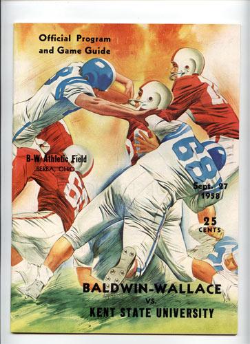 1958 Baldwin-Wallace Vs Kent State College Football Program