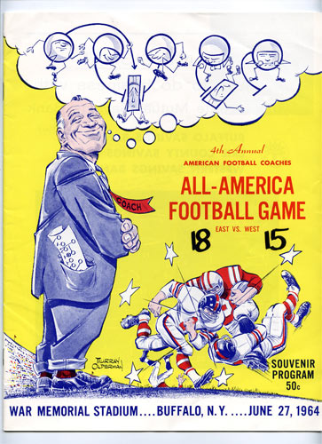 1964 All-America Game Program College Football Program