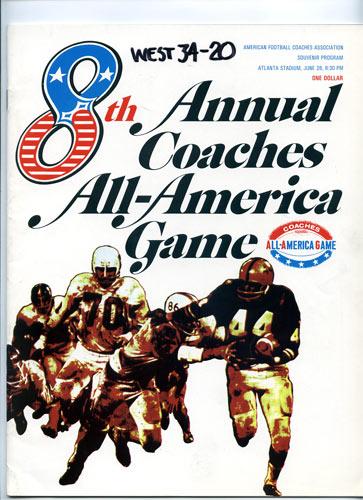 1968 All-America Game Program College Football Program
