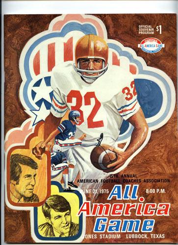 1975 All-America Game Program College Football Program