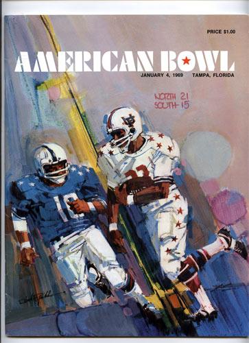 1969 American Bowl College Football Program