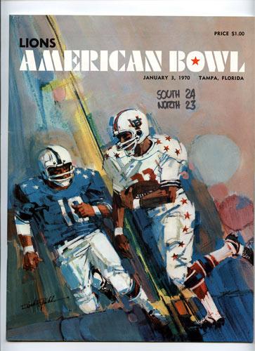 1970 American Bowl College Football Program